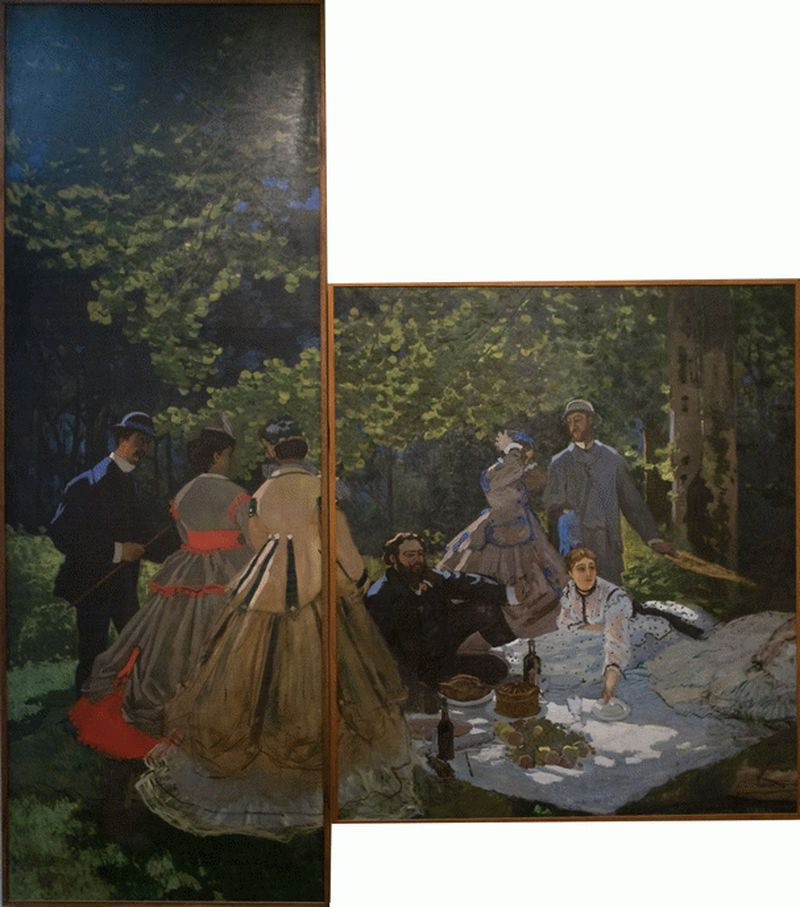 Claude Monet. Breakfast on the grass (the surviving fragments)