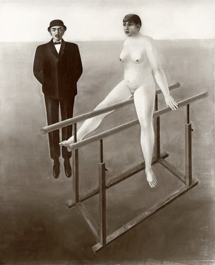Anton Räderscheid (Антон Рэдершайдт). Nude at the bar