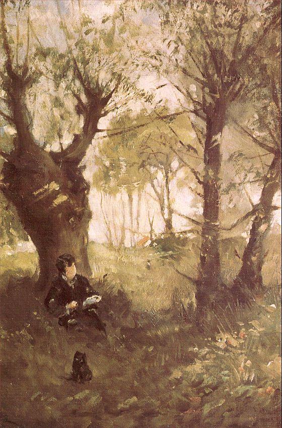 Берта Моризо. Чтение в саду