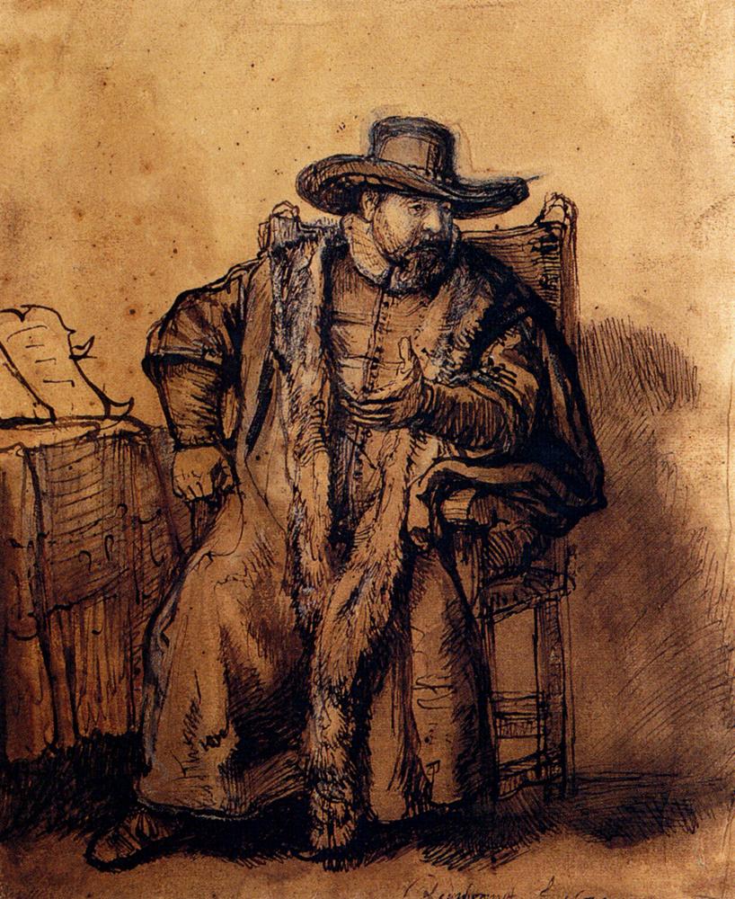 Rembrandt Harmenszoon van Rijn. Cornelis Claes Anslo