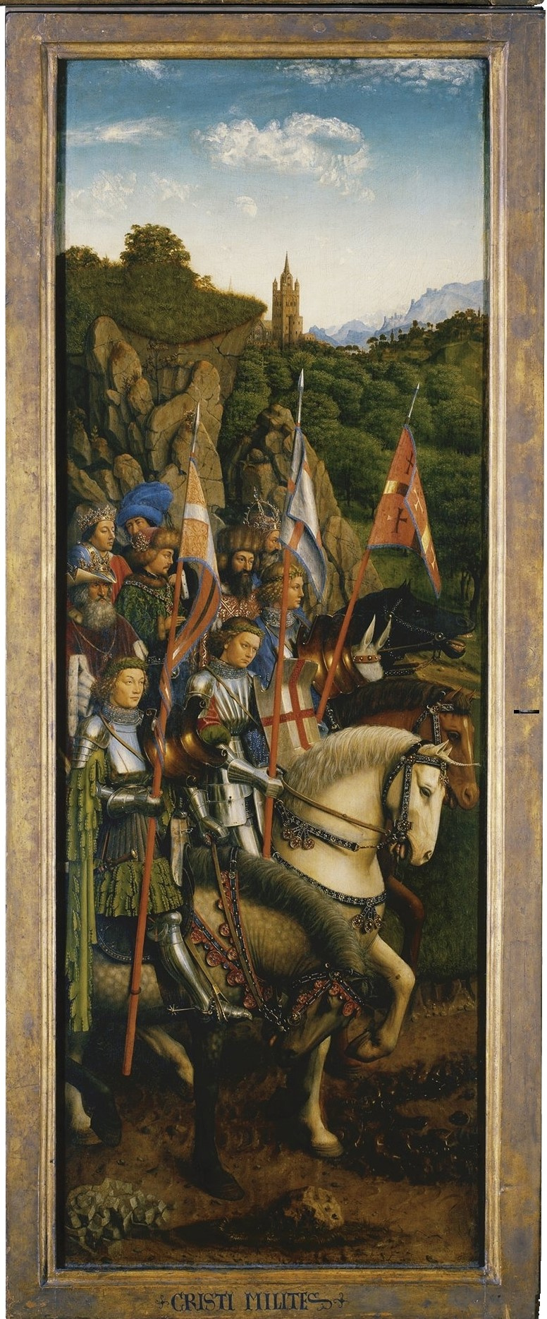 Jan van Eyck. The Ghent altarpiece. Army of Christ (fragment)