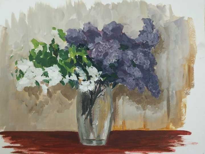 Alexandra Sergeevna Fedulova. Lilac