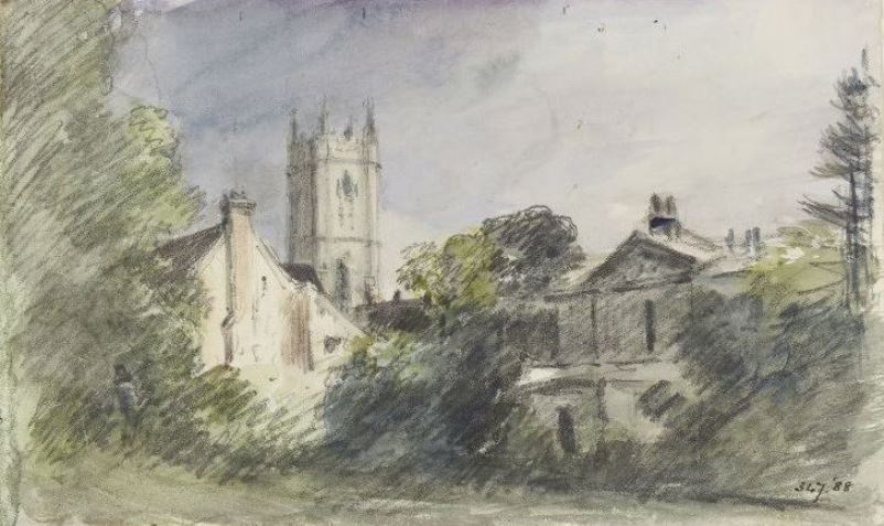 John Constable. Dedham: house and tower of the Church