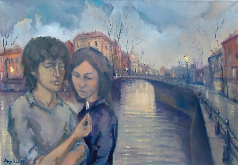 Michael Yudovsky. The embankment in Amsterdam
