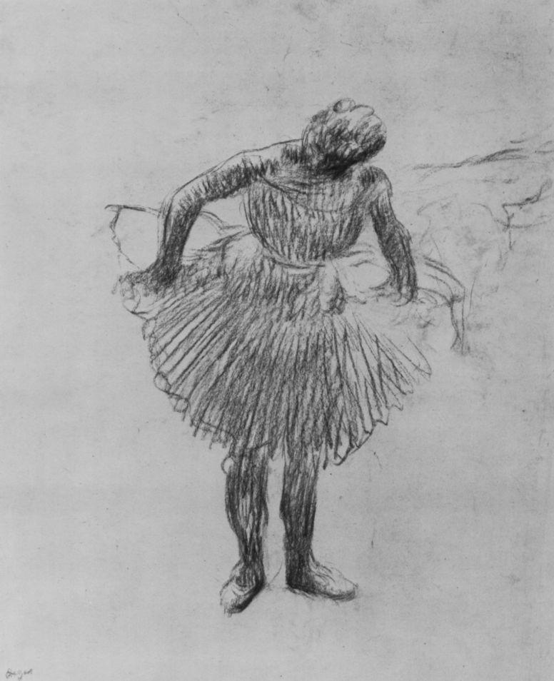 Edgar Degas. Ballerina, slightly leaning forward