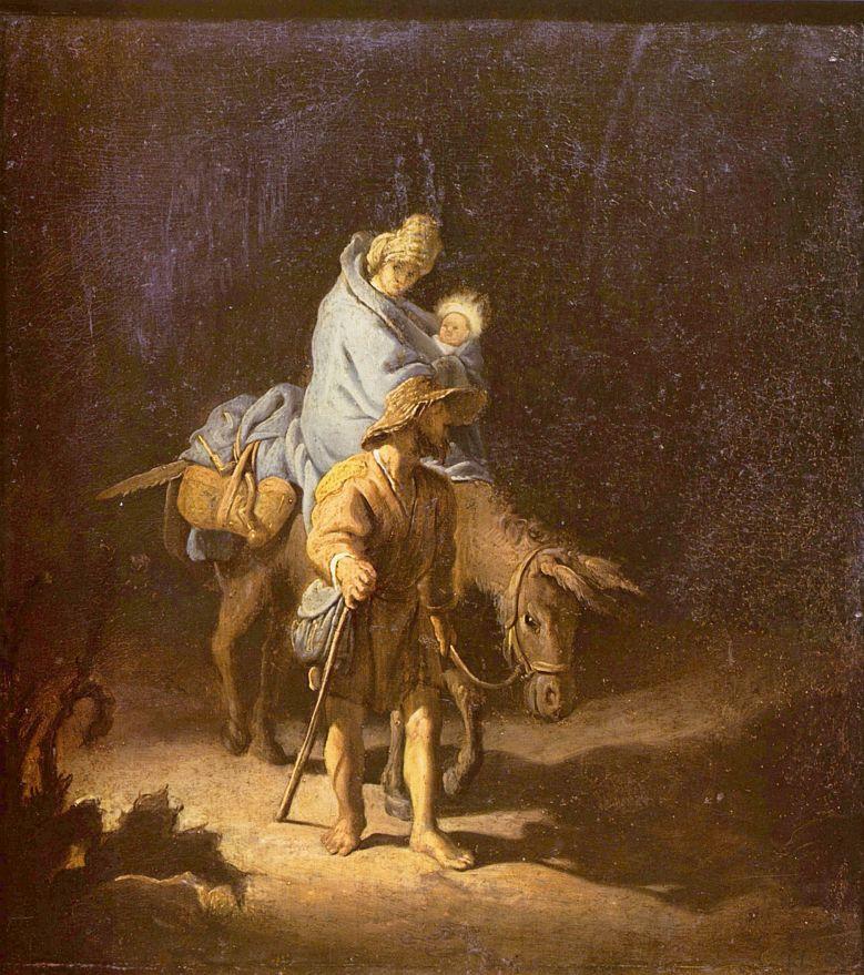 Рембрандт Ван Рейн. Бегство в Египет