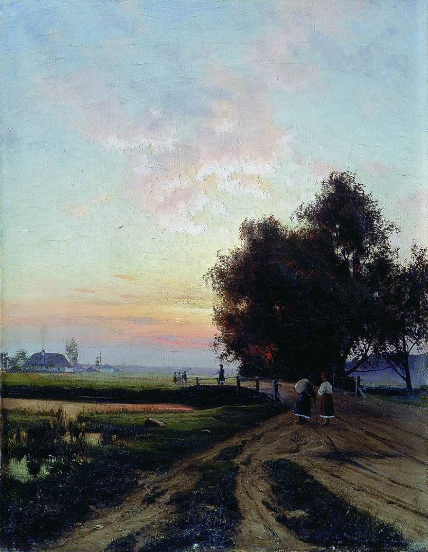 Joseph Evstafievich Krachkovsky. Summer evening in Little Russia. Irkutsk Regional Art Museum. V.P. Sukacheva