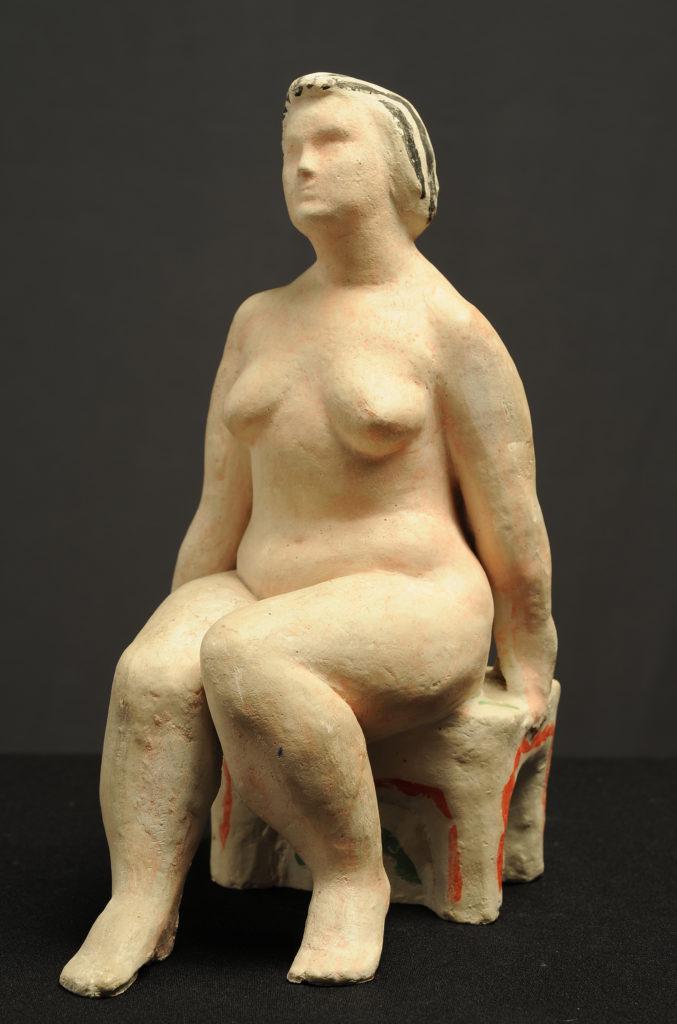 Pelageya Nikolaevna Shuriga. Nude woman on a stool