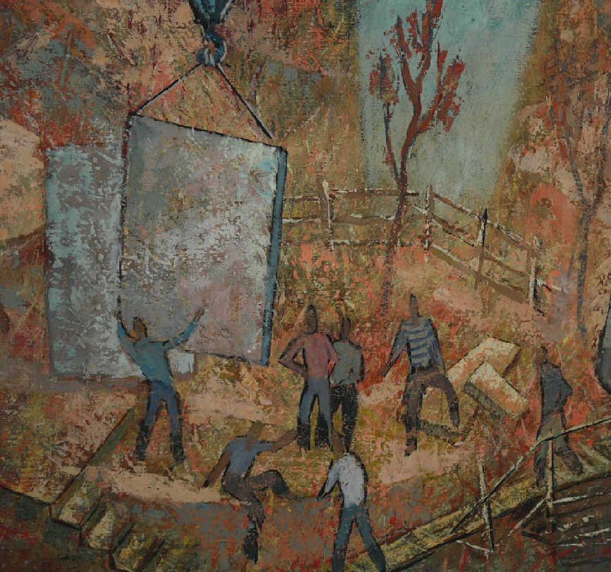 "Nikolay Antonovich Macedonian. ""Work on the construction site"""