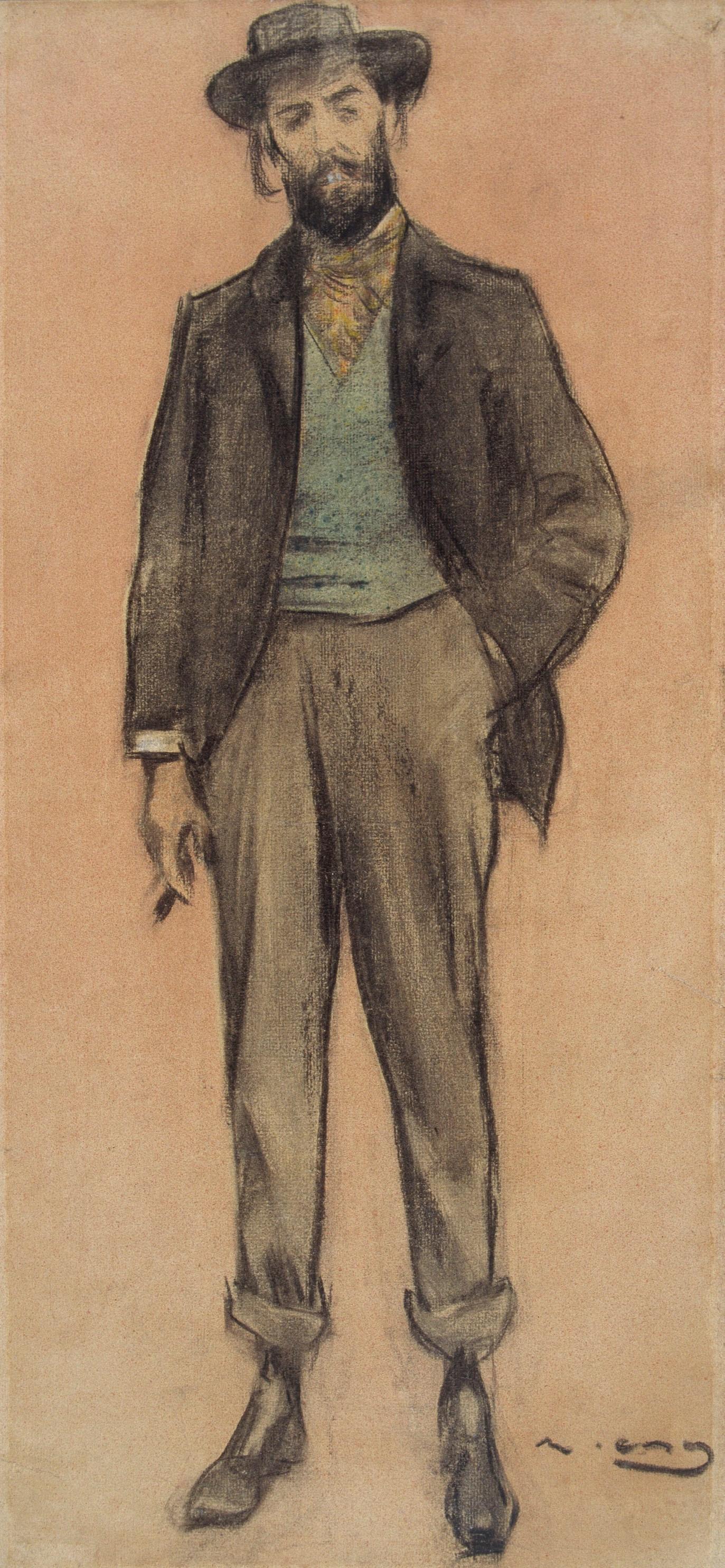 Ramon Casas i Carbó. Portrait of Per Romeu