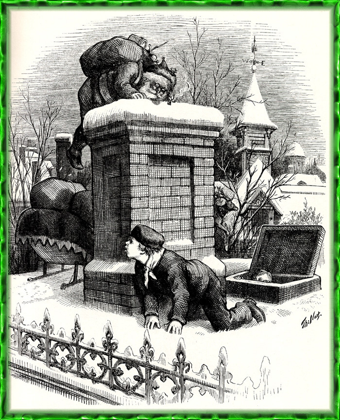 Томас Наст. Видя Санта-Клауса