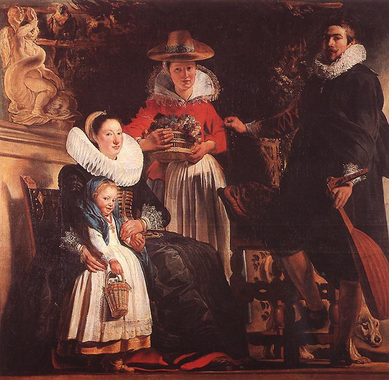 Якоб Йорданс. Семья художника