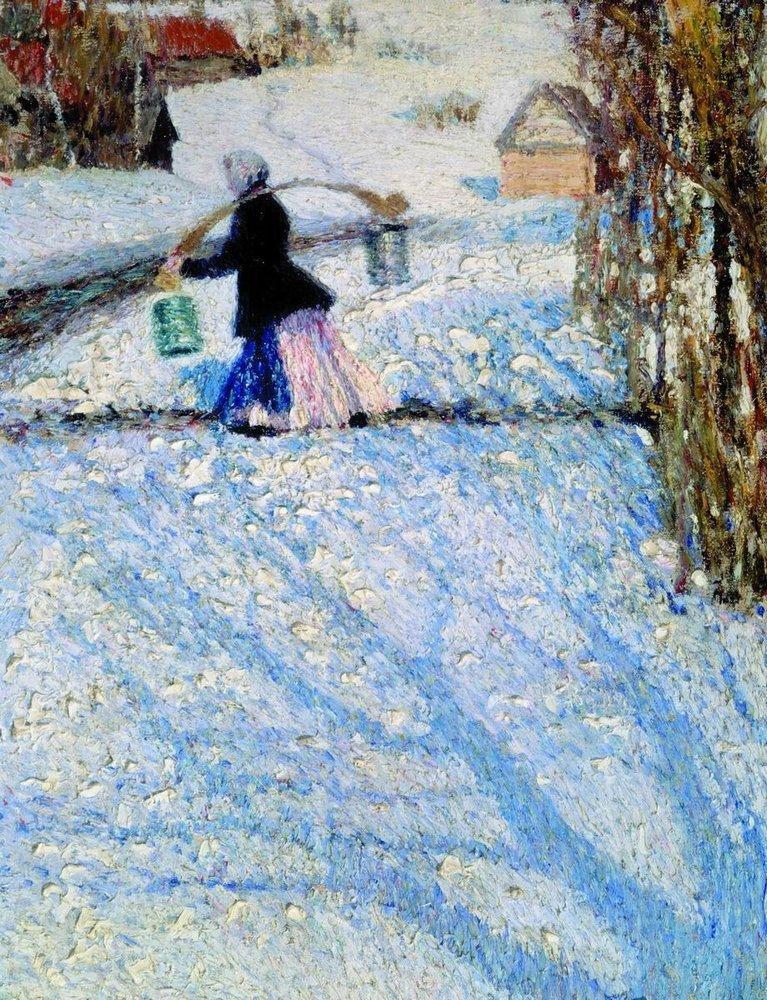 Igor Grabar. March snow