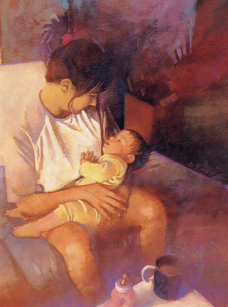 Терри Хофф. Материнство