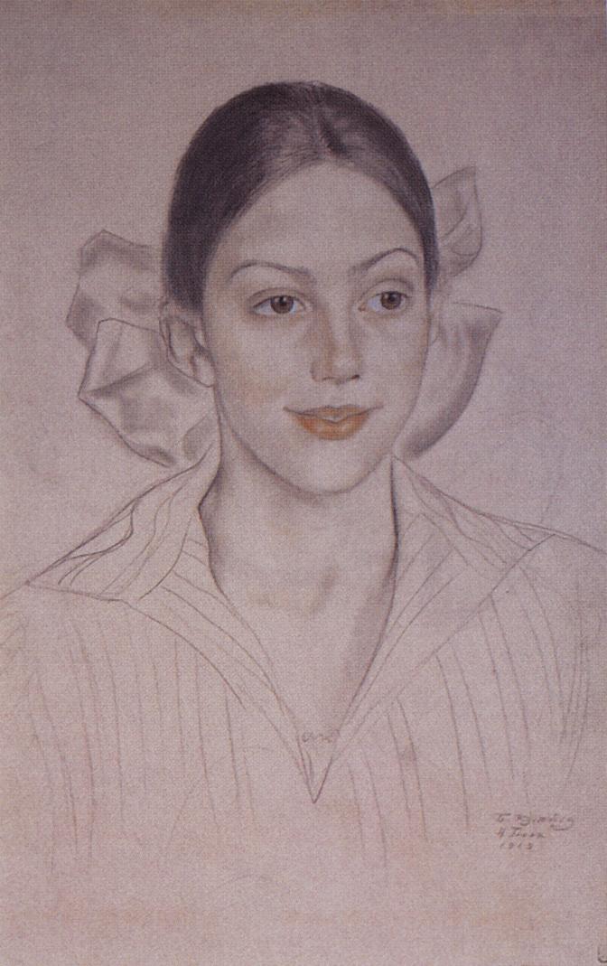 Boris Kustodiev. Portrait Of N.. Kuznetsova