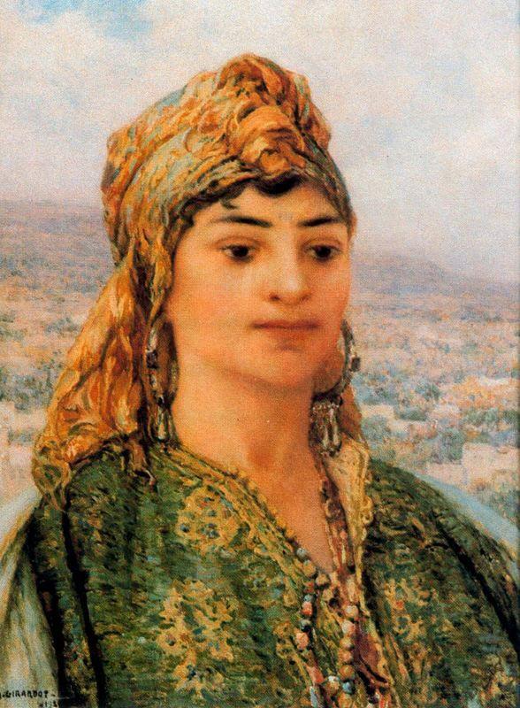 Видение востока. Портрет восточной девушки