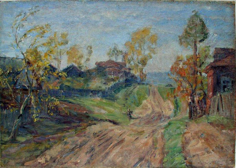 Мария Владимировна Ломакина. Golden autumn. Zagorsk