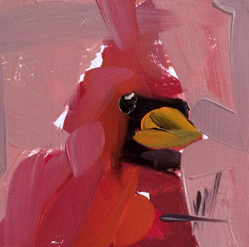 Angela Moulton. Red cardinal