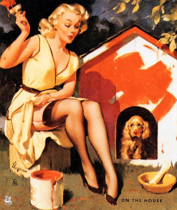 Jill Elvgren. Doghouse