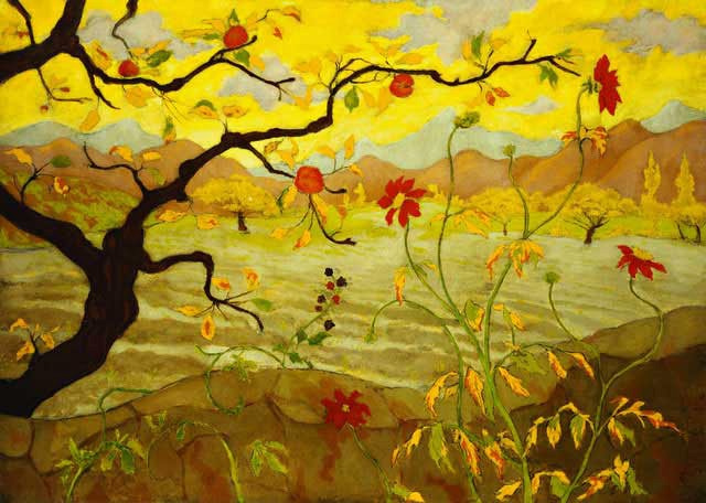 Paul Ranson. Apple tree with red fruit