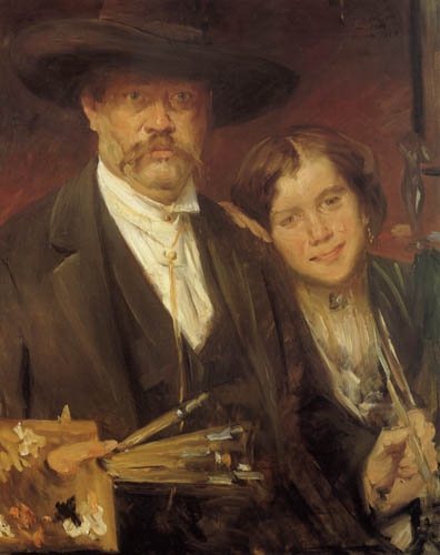 Self-portrait with model