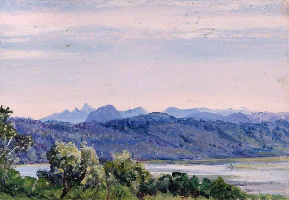 Марианна Норт. Горный пейзаж, Цейлон