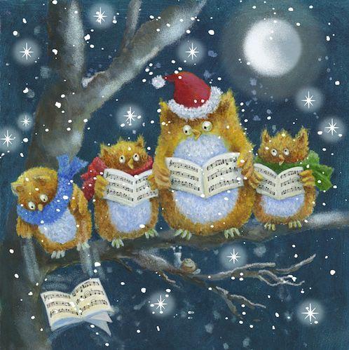 Jen Pashley. Owl, singing Christmas carols
