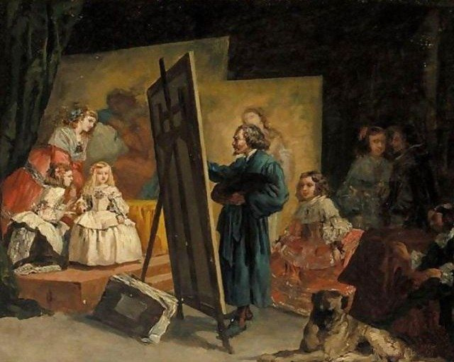 Eugenio Lucas Velázquez. Velasquez draws the Menin