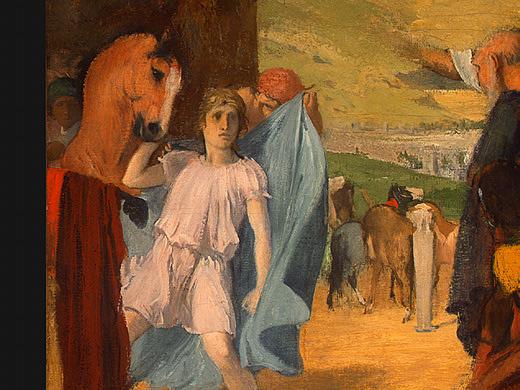 Эдгар Дега. Александр и Буцефал 2(фрагмент)