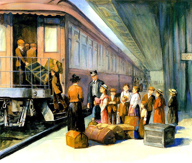 Ronald Himler. Train somewhere