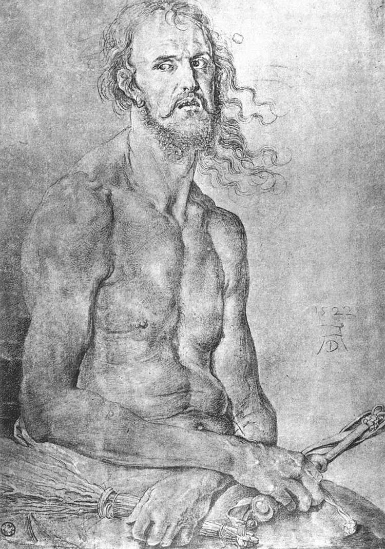 Albrecht Durer. The man of sorrows (self-Portrait)
