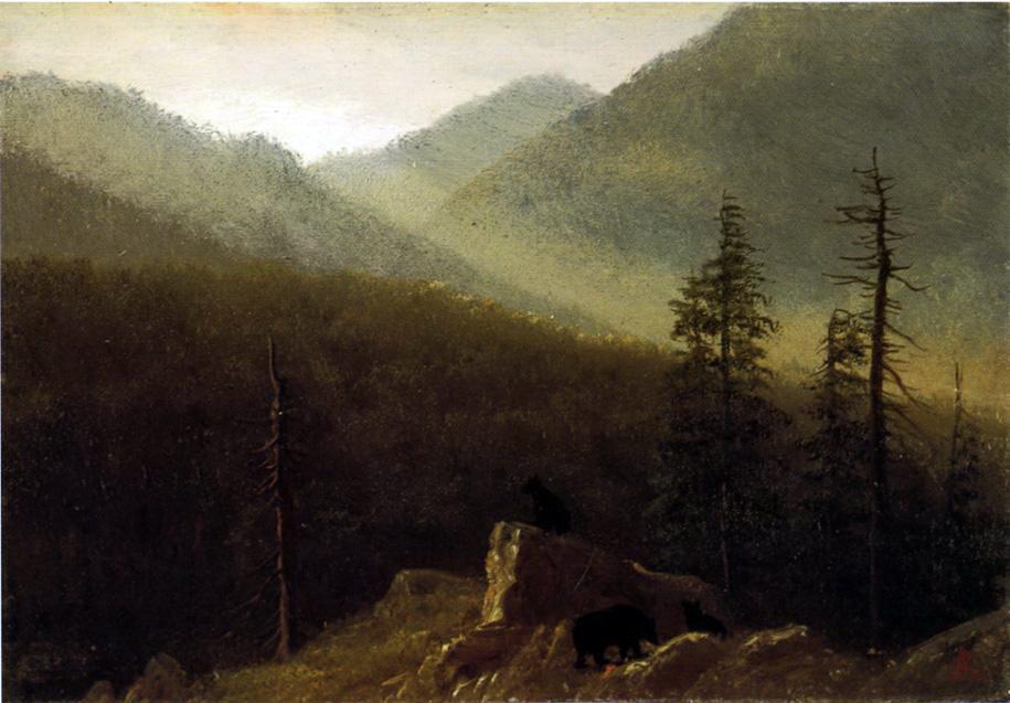 Альберт Бирштадт. Медведи в пустыне