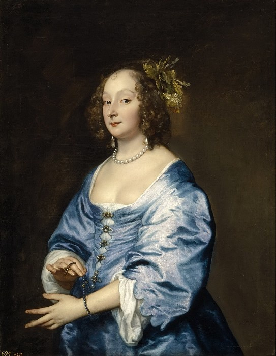 Anthony van Dyck. Portrait of Maria Rusin, wife of the artist