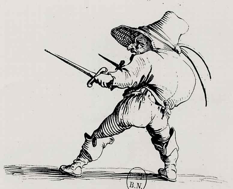 Жак Калло. Дуэлянт с мечом и кинжалом