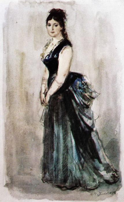 "Konstantin Ivanovich Rudakov. Anna. Illustration for the novel ""Anna Karenina"""
