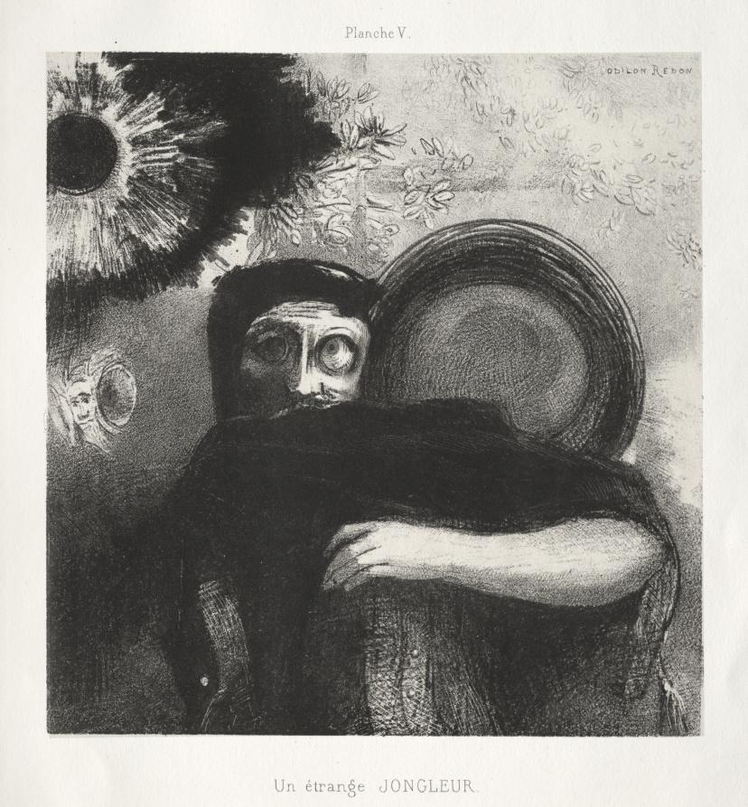 Odilon Redon. Dedication to Goya: Strange juggler