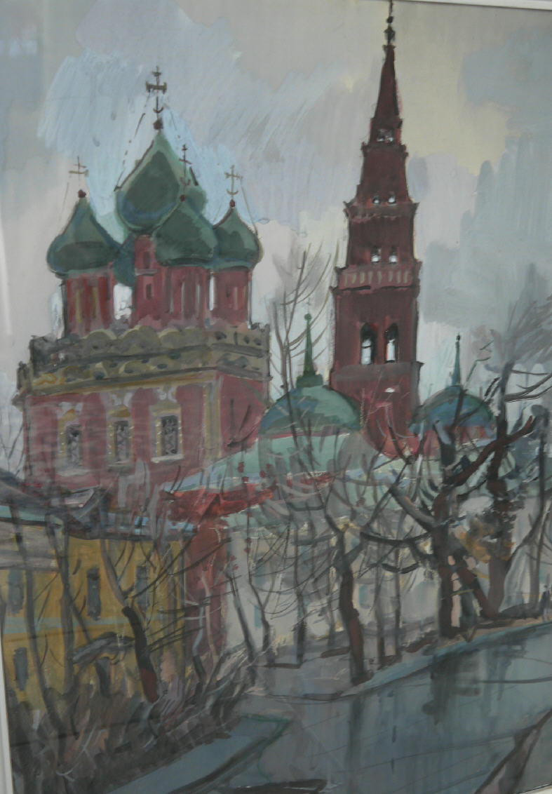 "Alexey Ivanovich Spiders. ""Church in Moscow"""