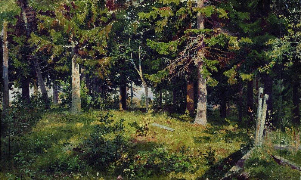 Иван Иванович Шишкин. Поляна в лесу