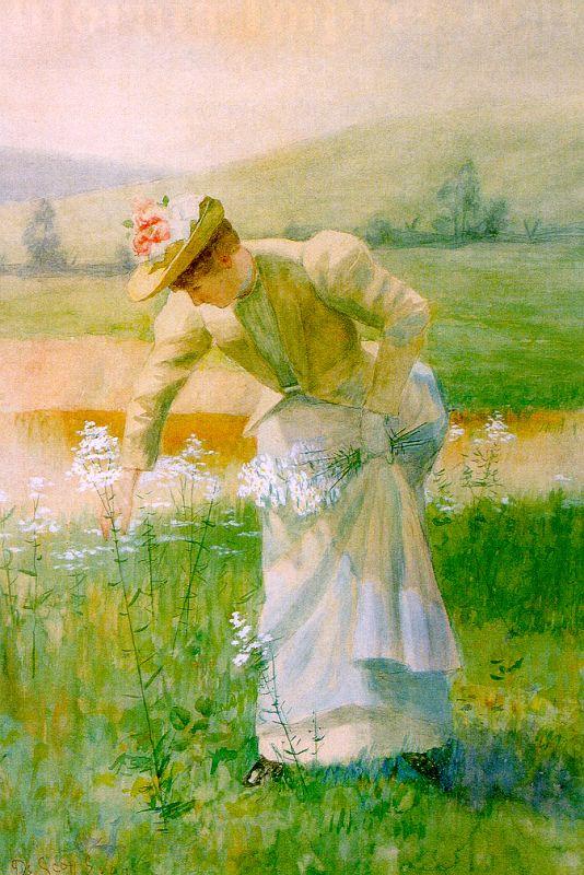 Скотт де Эванс. Девушка на траве