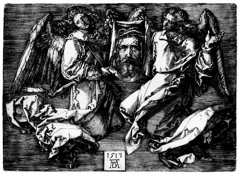 Альбрехт Дюрер. Судариум, поддерживаемый двумя ангелами