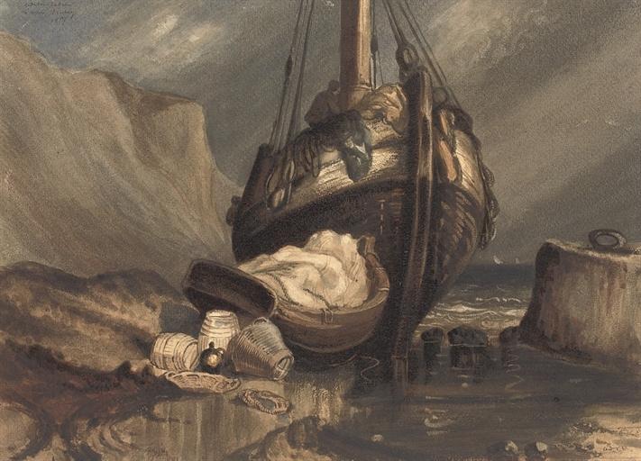 Одилон Редон. Рыбацкая лодка (подражая Изабе)