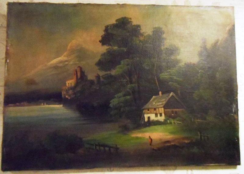 Unknown artist. House in the woods