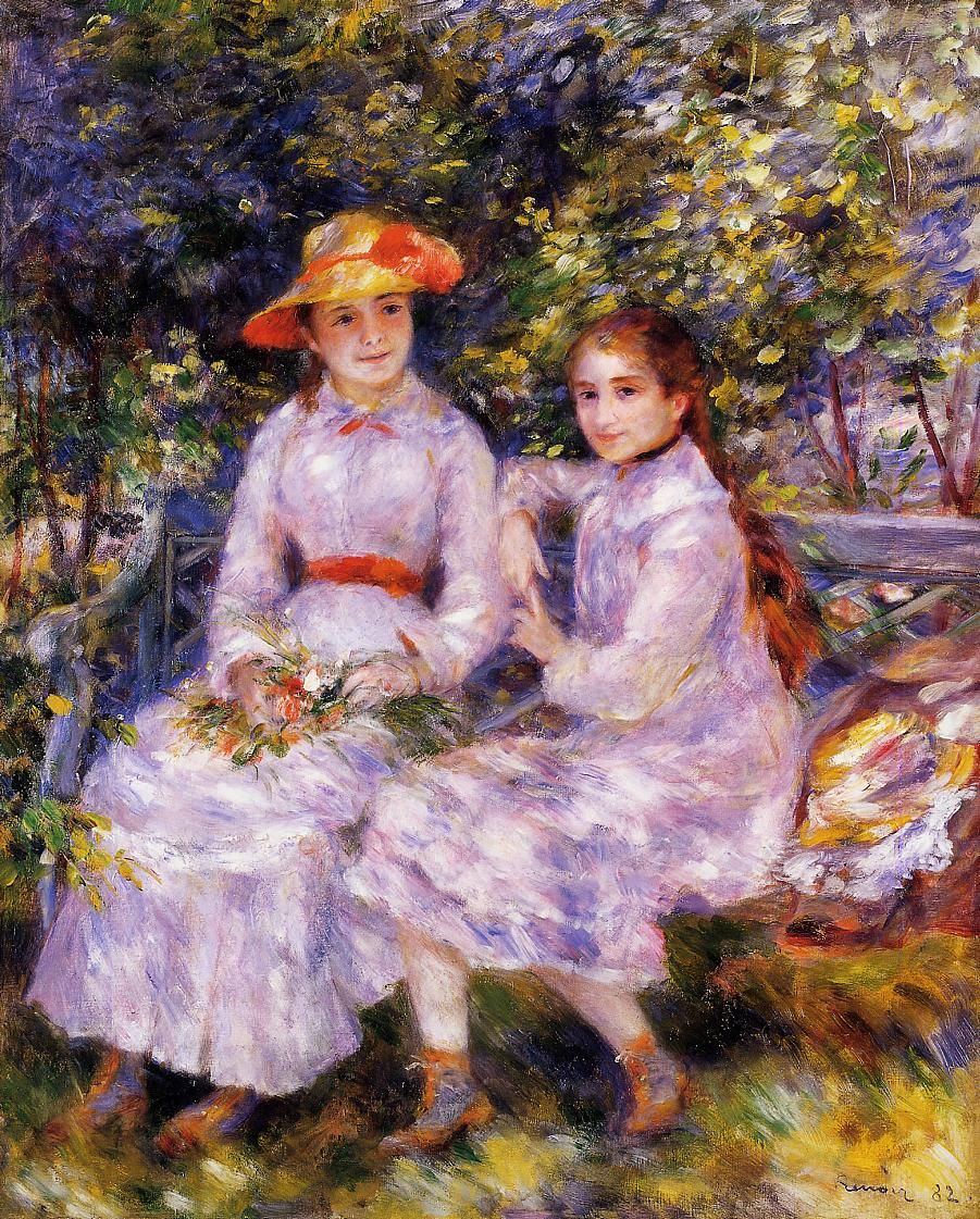 Pierre-Auguste Renoir. Daughters of Paul Durand-Ruel (Maria Theresa and Jeanne)