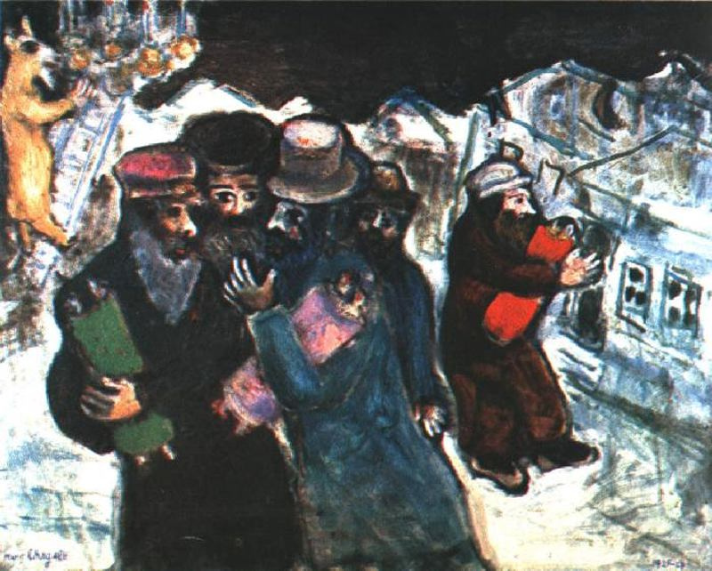 Marc Chagall. The return from the synagogue