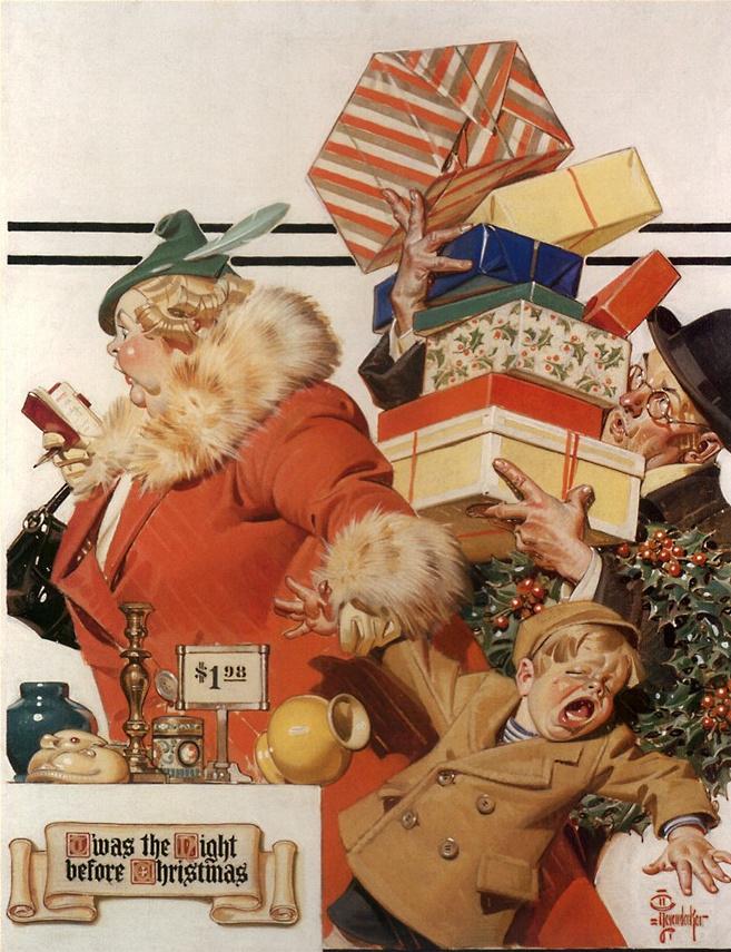 Joseph Christian Leyendecker. The night before Christmas