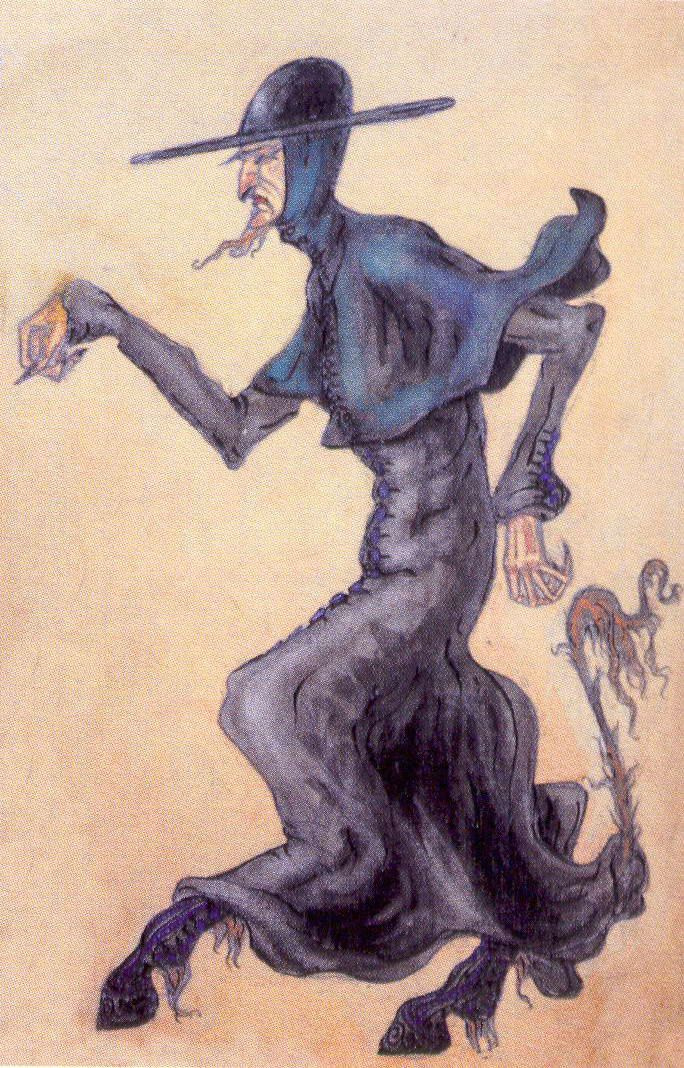 """Nicholas Roerich. Father-the devil. Sketch for the play """"peer Gynt"""" by H. Ibsen"""