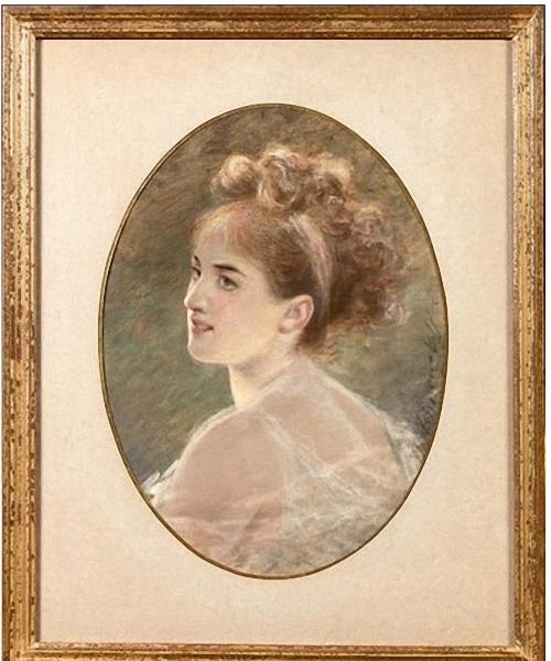 Fedor Petrovich Chumakov. Estimated portrait of Princess Tolstoy.