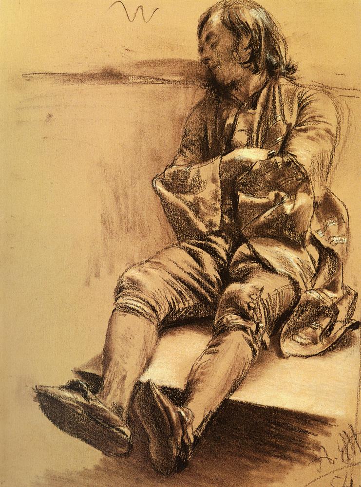 Адольф фон Менцель. Спящий человек