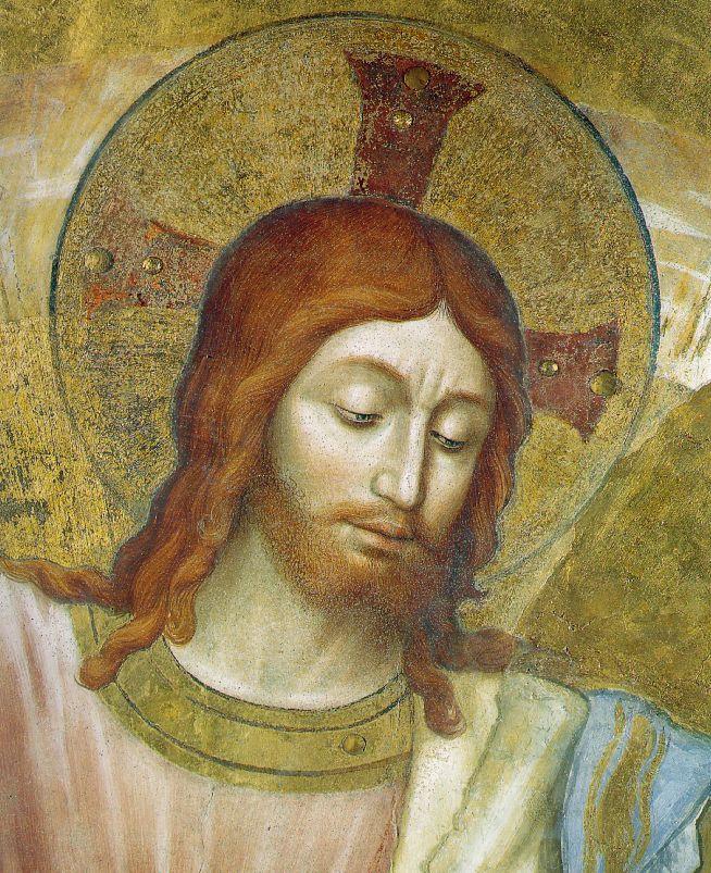 Фра Беато Анджелико. Христос. Фрагмент фрески капеллы Мадонны ди Сан-Бризио