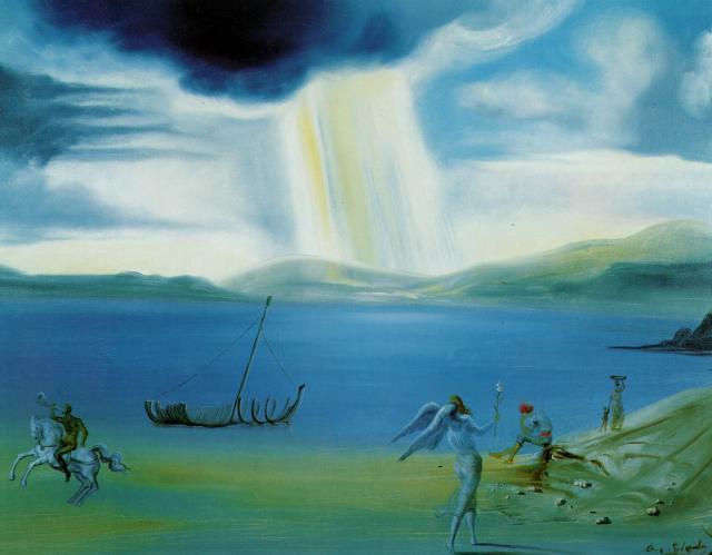 Salvador Dali. Landscape near Port Lligat